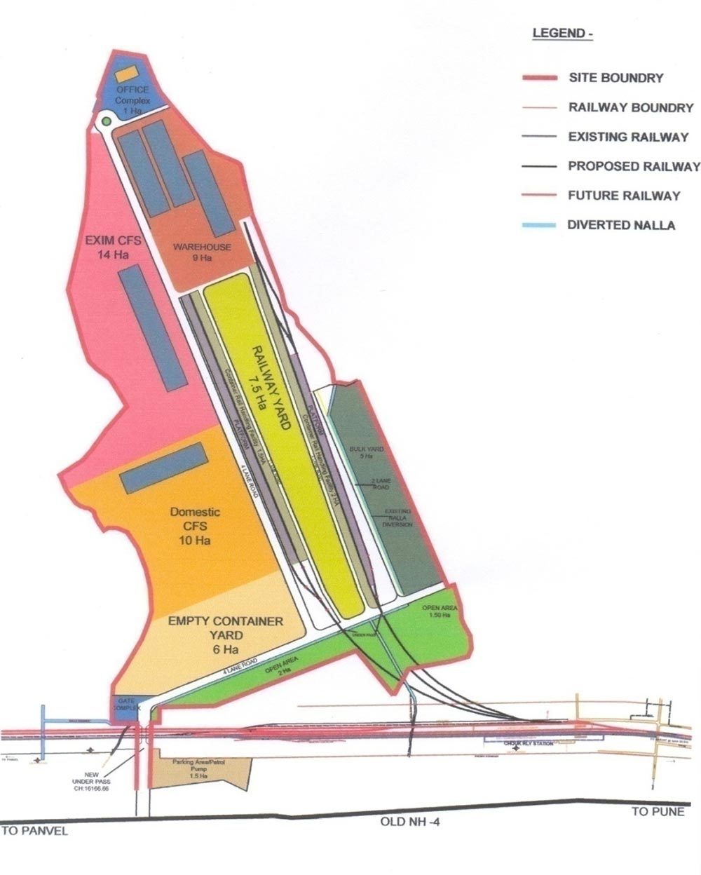 Master Plan for Peninsular Logistic Hub along Mumbai-Pune Highway at Chowk