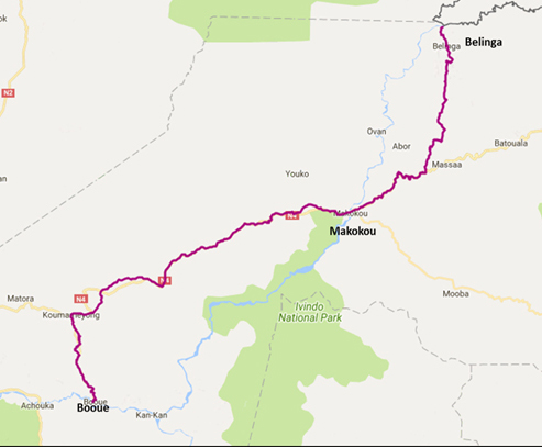Pre-feasibility report for Standard Gauge proposed Railway Project from Booue to Belinga via Makakou in Gabon, Africa