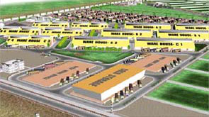 Master plan for the development of existing airport land at Solapur